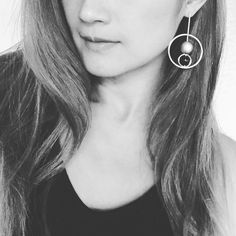 AnChus Double Hoop Dangle Earrings