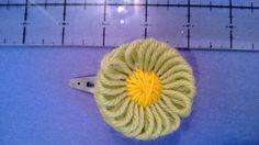 flower barette i made