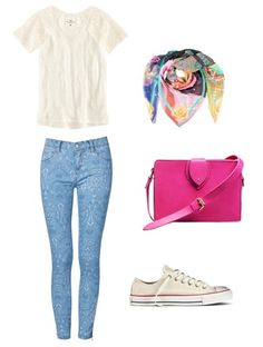 Love the pink, and I am not a pink lover! {Minus the ugly shoes.}