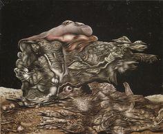 Works by Richard Oelze  Title: Wallace Stevens