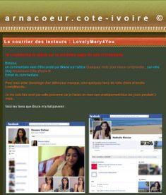 Le courrier des lecteurs : Sylvestre - Arnacoeurs Côte d'Ivoire © Faux Profil, Profil Facebook, Ivoire, Face Book, Comment