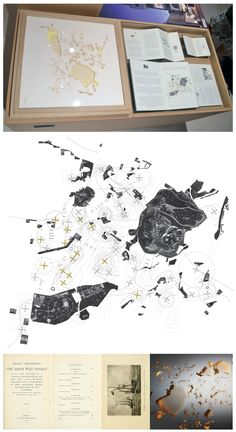 Athens Map According to Roald Amundsen,   'Athens Northwest Passage', draftworks*architects 2012, Venice Biennale