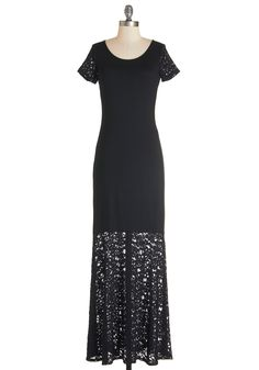 Book Reviewer Dress. Known for your discerning literary tastes, you also demonstrate your eye for writerly fashion in this jersey-knit maxi dress. #black #modcloth