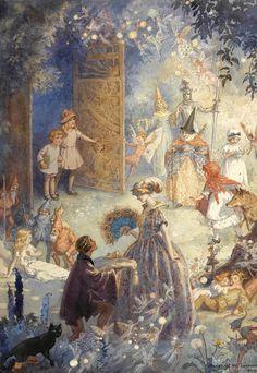 "oldchildrensbooks: "" Gates of Fairyland. 1922. Margaret Tarrant. """