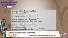 A Change Is Gonna Come - Sam Cooke Vocal Backing Track with chords and l...
