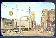 Looking down Monroe Center from Division - 1960s