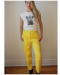 Yellow vintage pants | Mlle Frivole