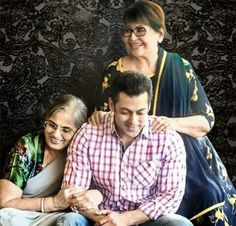 Salman khan with both his mother's. ♥