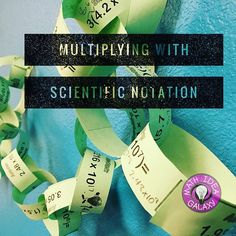 Operations with Scientific Notation Activity (Paper Chain) Math Teacher, Math Classroom, Scientific Notation, Feedback For Students, Paper Chains, Secondary Math, Math Practices, Math Concepts, Common Core Math