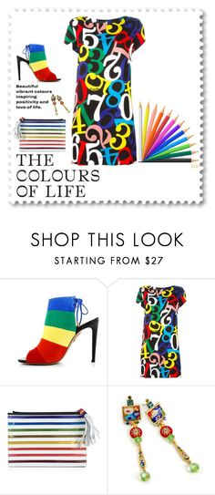 """""""Primary Colours of Life"""" by kateo ❤ liked on Polyvore featuring Aquazzura, Mary Katrantzou, Sweet Romance, pride and 6643"""