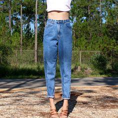 f84141981530 High Waisted Mom Jeans, Comfy, Pairs, High Waist Jeans. Depop