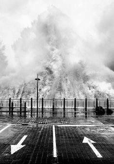 Waves in Donostia at San Sebastián. Photo by Phil Ladbrook. Taken December 2008.
