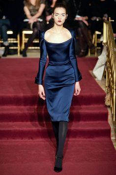 Zac Posen Fall 2013 RTW Collection - #duchess #satin #navy