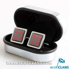 Clan Grant Tartan Cufflinks