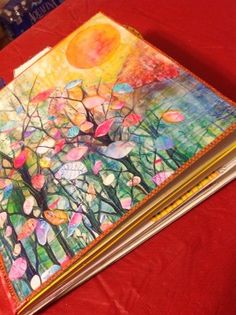 Tutorial on making an art journal from Insights and Belly Laughs