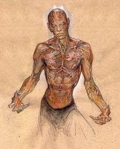Paul Komoda concept art for vampires in I AM LEGEND. Via Artist Proof Studio: March 2011.