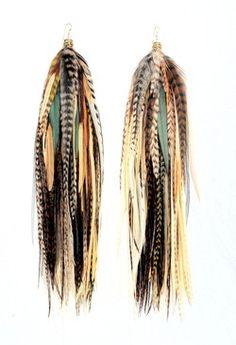 feather earrings...