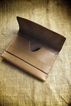 "Bas and Lokes Handmade Leather Goods - ""Liam"" Handmade Leather Wallet, $85.00 (http://www.basandlokes.com/liam-handmade-leather-wallet/)"
