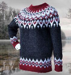 Ravelry: Ragnalla Lopapeysa pattern by Gabi Renggli Double Knitting Patterns, Fair Isle Knitting Patterns, Sweater Knitting Patterns, Pullover Design, Sweater Design, Norwegian Knitting, Icelandic Sweaters, Lana, Knit Crochet
