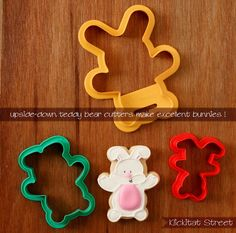 Upside down bear cutter = bunny. | Klickitat Street