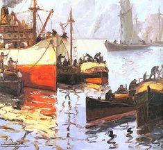 Sol de sabado South America, Fine Art, Paintings, Rio De Janeiro, Sun, Visual Arts, Canvases, Argentina, Ships