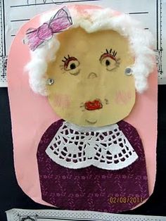 Happy 100th Day of School! - Self portrait of what I think I will look like when I am 100 years old!