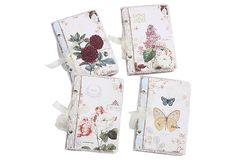 Nature's Notes Journals ~~ Bedecked with blooms and butterflies, these canvas-covered journals are perfect for your lists, notes, memories and more.