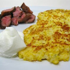 Cheesy Cauliflower Pancakes by katbaro, via Flickr