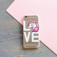 Clear TPU Case Cover - LOVE Unicorn – Milkyway