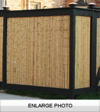 6ft x 8ft Natural 1 Inch Diameter Bamboo Fence Panel Roll