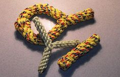 Paracord Dog Toys | This super strong material is perfect for chewing on by man's best friend. #survivallife www.survivallife.com
