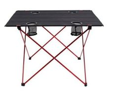 Amazing offer on Outry Lightweight Folding Table Cup Holders, Portable Camp Table online - Fancylookstar Camping Picnic Table, Camping Bbq, Camping Gear, Lightweight Folding Table, Bottle Holders, Cup Holders, Outdoor Folding Chairs, Foldable Table, Aluminum Table