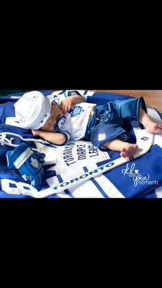 I will so do this for our baby if it's a Benny Newborn Pictures, Baby Pictures, Baby Photos, Kid Photos, Newborn Baby Photography, Children Photography, Themed Photography, Toronto Maple Leafs, Baby Born