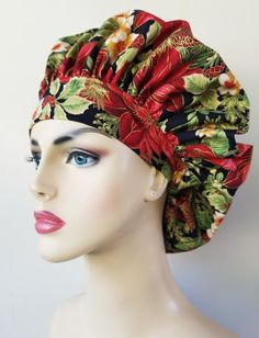 Your place to buy and sell all things handmade Hair Scarf Styles, Surgical Caps, Scrub Caps, New Print, Scarf Hairstyles, Beautiful Christmas, Scrubs, Perfect Fit, Apron