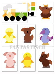 design with shapes Animal Crafts For Kids, Animal Projects, Diy For Kids, Toddler Activities, Preschool Activities, Christmas Classroom Door, Circle Crafts, Puppets For Kids, Shape Crafts