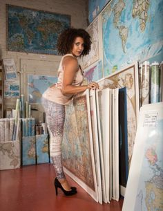 Now You Can Turn Your Artwork Into Custom Leggings via Brit + Co.
