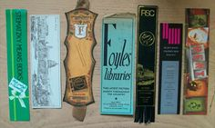 A place in time ... Great article on old bookmarks left in secondhand volumes