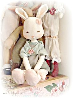 Pipi Lapin PDF cloth softie bunny rabbit sewing by VerityHope