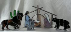 Lighted Southwest  Stained Glass Nativity by SerendipityGlassWrks, $175.00