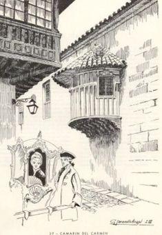 Camerín del Carmen, Bogotá en dibujos - Búsqueda de Google Montenegro, Louvre, Granada, Architecture, Academia, Building, Travel, Google, 18th Century
