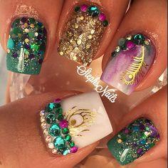 Stephanie Loesch @_stephsnails_ #peacocknails#lov...Instagram photo   Websta (Webstagram)