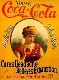 Vintage Coca Cola - Vintage or not it really cures headaches! Coca Cola Vintage, Vintage Ads, Vintage Posters, Vintage Labels, Vintage Signs, Coca Cola Poster, Coca Cola Ad, Always Coca Cola, Coca Cola History