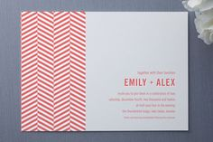 Chevron - simple but lots of personality. Could be printed on any cardstock.