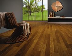 Triângulo Exotic engineered hardwood flooring Brazilian Teak 3/8'' - Brasil