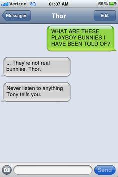 Thor text, Avengers