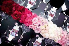 ombre flowers centerpieces