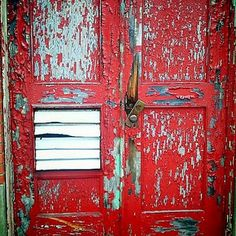 old rickety door at the Paul Dever school located in Taunton, ma.