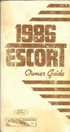 20 best ford owners manuals images on pinterest manual textbook 1986 ford escort owners guide fandeluxe Images