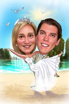 Caricatures from photos. Order your hand-drawn caricature drawings, gifts and pictures today. Caricature From Photo, Caricature Drawing, Wedding Caricature, Couple Cartoon, Your Photos, Wedding Gifts, How To Draw Hands, Meme, Graphics