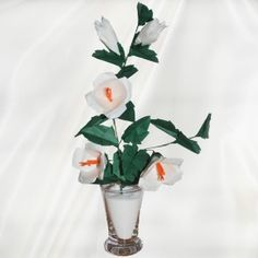 """Origami Hibiscus"" - 30 folded elements (origami flower & foliage) - Worldwide Delivery  - $79.99"